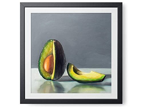 Amazon Com Avocado Slice Oil Painting Giclee Paper Or
