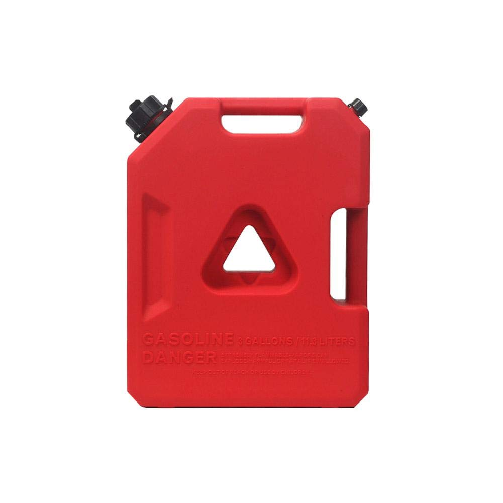 HITTIME Gas Can 3 Gallon Portable Fuel Oil Petrol Diesel Gas Storage Tank Emergency Backup for Motorcycle Most Cars SUV ATV(Red-11.3 L)