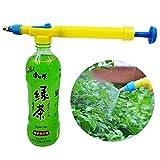 New Mini Juice Bottles Interface Plastic Trolley Gun Water Sprayer Head Pressure Yellow/Blue