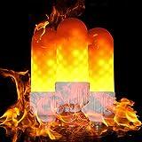 ZDYLM-Y LED Flame Effect Light Bulb E27 Standard Base Flame Bulb - 3W - 99pcs LED Flame Light, Atmosphere Lighting, Decorative Light for Halloween, 3Pack