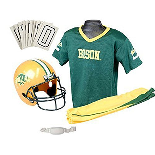 Toddler College Football Costumes (Franklin Sports 15500F79P1Z College North Dakota State Small Uniform Set,)