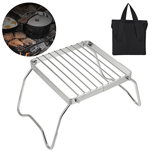 Giant Bbq Trailer Silver (VGEBY Barbecue Grill, Portable Foldable Lightweight Charcoal Grill for Camping Hiking Picnic)
