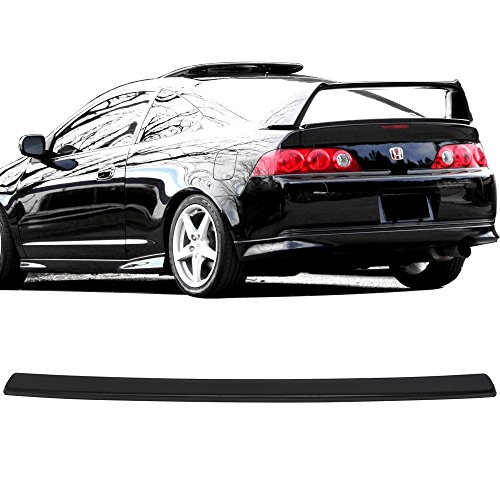 Trunk Spoiler Fits 2002-2006 Acura RSX | Aspec Style Unpainted Black ABS Rear Spoiler Boot Deck Lid Roof Wing Replacement by IKON MOTORSPORTS | 2003 2004 2005