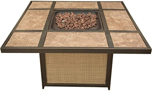 Cambridge ARTISTILE1PCFP Artisan Tile-Top LP Gas Fire Pit Outdoor Furniture