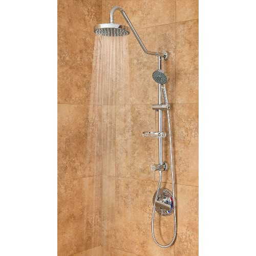 well-wreapped PULSE Showerspas 1011-CH Kauai III Retro-Fit Rain Shower System with Handshower and Adjustable Slide Bar, Chrome Finish