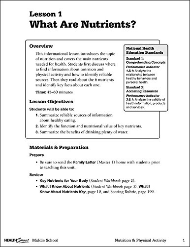 HealthSmart Middle School Nutrition & Physical Activity