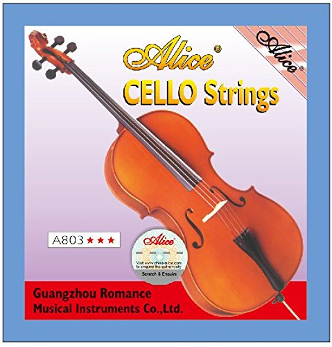 4pcs Full Set Replacement Alice A803 Steel Core Nickel Silver Wound A D G C Cello Strings