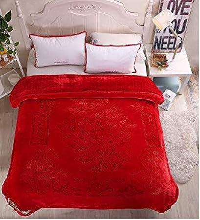 RSQD Mantas Manta Suave Fluffy Fuzzy Floral Tallado Regalo De Boda Queen Size Cama Doble Cama Doble Fleece Throw Blanket
