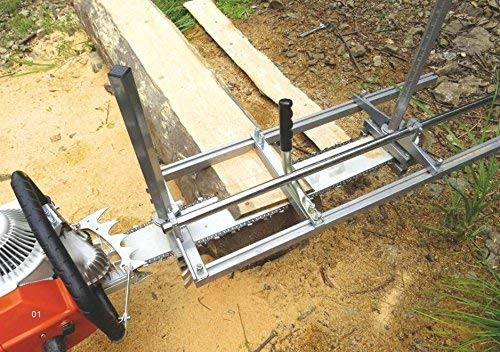 TTF Chainsaw Mill Attachment Chainsaw Milling Planking Milling Bar Planking Cutting Guide Bar Chainsaw Mill Guide Sawmill For Chainsaw Portable Chain Sawmill Attachment (14''-36'') by TTF (Image #8)