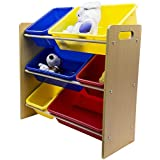 Everyday Space Saving Kid's Toy Storage Organizer with Bins