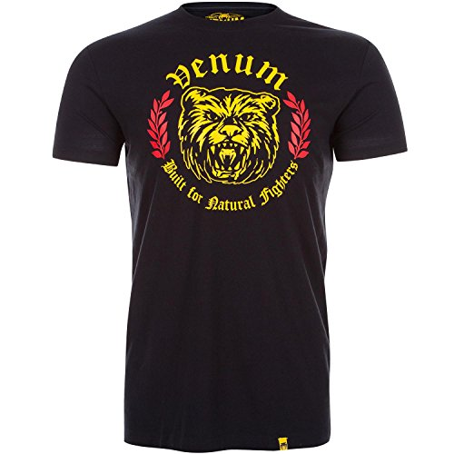 Venum Men's Natural Fighter Bear T-Shirt, Black, Large