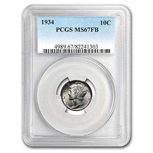 1934 Mercury Dime MS-67 PCGS (FB) Dime MS-67 PCGS