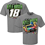 NASCAR Men's Chassis 2-Spot T-Shirt-Kyle Busch #18-M&M's-Gray-XL
