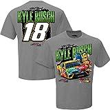 NASCAR Men's Chassis 2-Spot T-Shirt-Kyle Busch #18-M&M's-Gray-XL