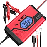 SUAOKI ICS7+ 12V Battery Charger/Maintainer (7A Fast / 3.5A Slow) Fully Automatic Trickle Charger for Car, Truck, Motorcycle, Boat, RV, Lawn Tractor