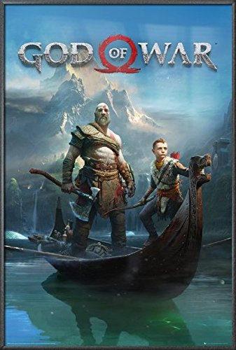 God Of War - Framed Gaming Poster/Print (Game Cover/Key Art) (Size: 24