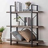 top HSH%203-Shelf%20Bookcase%2C%20Rustic