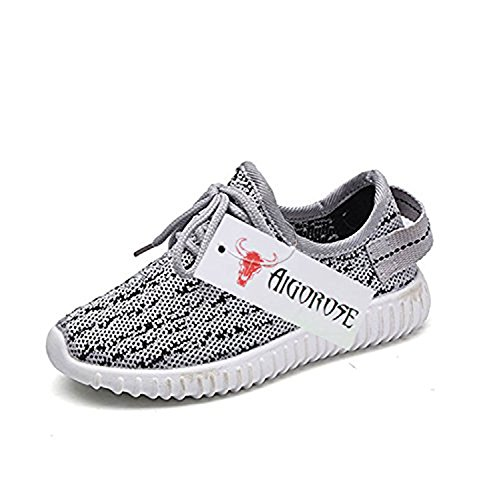 Price comparison product image 2017 New Girl Boy's Casual Fashion Sneakers Breathable Athletic Running Sports Shoes (Toddler/Little Kid/Big Kid) (28/11 M US Little Kid, Gray)