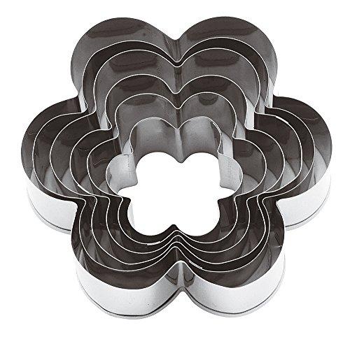 Paderno Flower - Paderno World Cuisine Flower Dough Cutters, 6-Piece Set