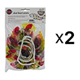 Norpro BOWL COVER/SAVER Reusable 6 Piece Elastic Clear Fruit Pattern 2-Pack