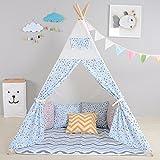 Teepee tenda indiana per bambini di alta qualità. Tenda giocattolo Tepee / casa giochi / wigwam di integrity co (Panda Blu)
