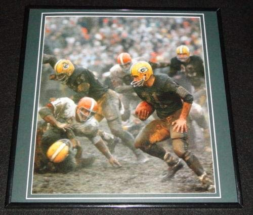 Jim Taylor Muddy Framed 12x12 Poster Photo Packers 1965 NFL Championship ()