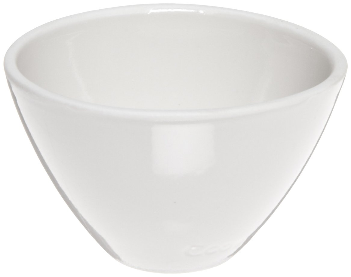 CoorsTek 60133 Porcelain Ceramic Wide Form Crucible, 8mL Capacity, 32mm OD, 20mm Height (Case of 72) by CoorsTek