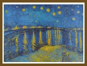 Vincent van Gogh Sternennacht Poster Bild Kunstdruck 51,5x72,5cm