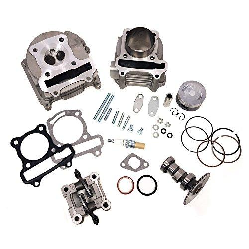 Complete Upgrade/Rebuild GY6 Cylinder Kit 100cc - 50mm piston, 70mm EGR Valves for 4-stroke 139QMB (Piston Rebuild Kit)