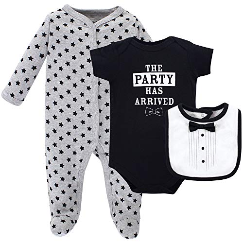Hudson Baby Baby Multi Piece Clothing Set, Tux 3, 3-6 Months (6M)