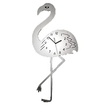 Reloj silencioso / reloj de pared / moderno luz de lujo flamenco de acero inoxidable / decorativo reloj de ...