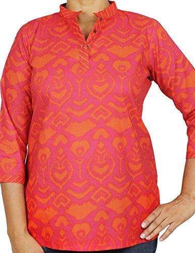 Indien Haut Femmes Robes d'été Kurtis coton Casual shirt imprimé confortable Airy