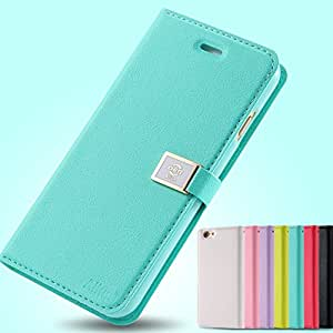 DER Ailun Brand Candy Leather Case For Apple Iphone 6 4.7'' I 6 Wallet With Card Holder & Strap Mobile Phone Bag Sleeve 4.7inch --- Color:green