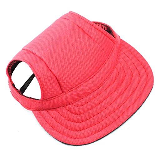 Puppy Hat, OOEOO Pet Cute Sport Cap Baseball Hat Small Dog Outdoor Sunhat Sunbonnet Cap (Hot Pink, 18cm)
