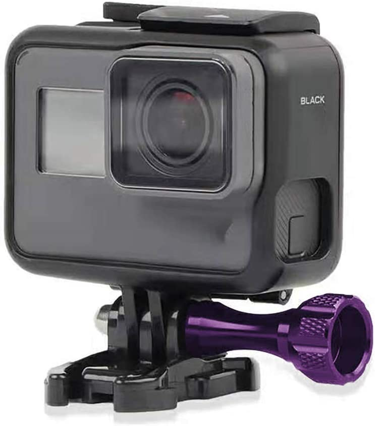 Alloy Thumb Screw Compatible with GoPro Hero 8//7//6//5//4//3//2//1 Camera and All Slots Fully Accessible Purple WANFH 3Pcs Thumb Bolt Screw Long Thumb Screw with Cap