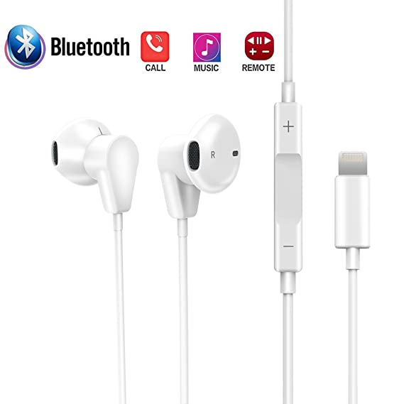 the best attitude 5d957 76e34 Amazon.com: Earburds Compatible with iPhone Xs/ Xs Max/ XR iPhone 8 ...