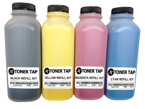 Laser Brother Color Hl4040cn - Toner Tap Premium HD Refill Kit for Brother TN-110, TN-115, HL-4040CDN, HL-4040CN, HL-4070CDW MFC-9440CN, MFC-9840CDW MFC-9440CN (HIGH Yield) Full Color Set