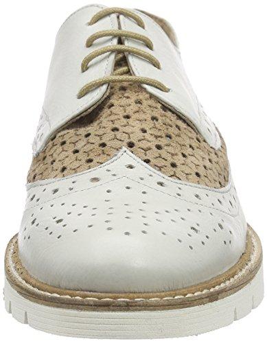 xyxyx Lace Up - Zapatos Derby Mujer Blanco / Beige