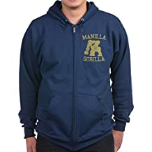 CafePress - Manilla Gorilla Mohammed Ali Retro Zip Hoodie (Dar - Zip Hoodie, Classic Hooded Sweatshirt with Metal Zipper