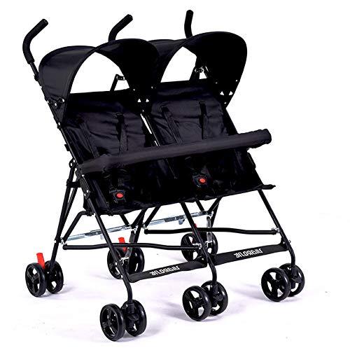 - Ultra-Light Twins Stroller, Portable Double Stroller, Baby Stroller for Twins, 2 Seats Children Umbrella Car,c