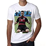 Miroslav Klose Men's T-shirt Celebrity Star ONE IN THE CITY - White, S