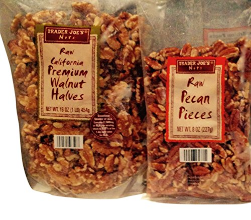 - Trader Joes Raw California Premium Walnut Halves & Raw Pecan Pieces Total 2 Items