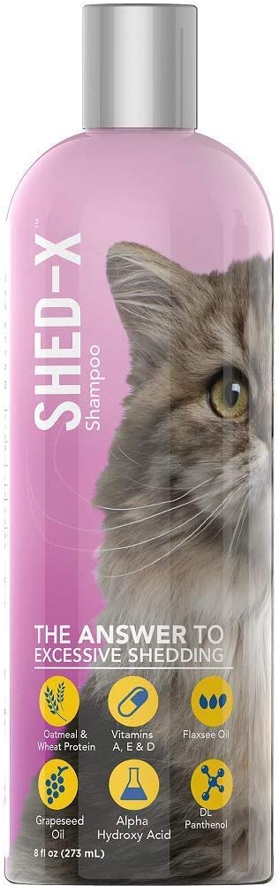 Shed-X Shed Control Shampoo for Cats, 8-Ounce