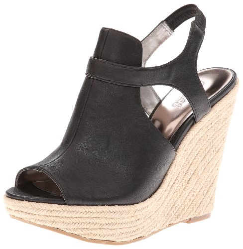 Synthetic Leather Santana Women's Carlos Bambi Black Carlos Wedge by 0Hq8x7