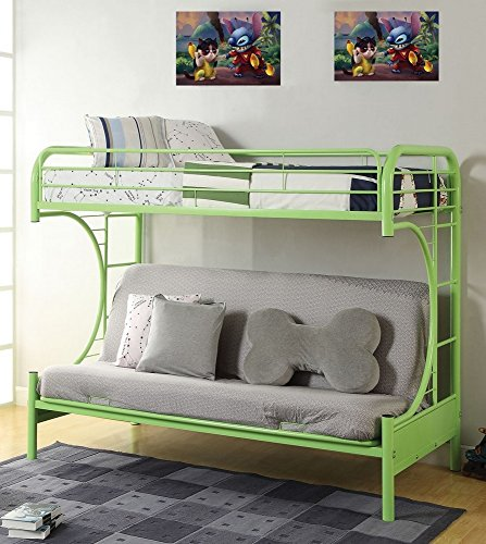 Acme Furniture – White Metal Eclipse Bunk Bed