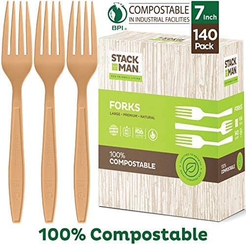 Disposable Compostable Silverware Certified Biodegradable product image