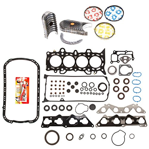 Domestic Gaskets Engine Rering Kit FSBRR4034EVE\0\0\0 01-05 Honda Civic 1.7 D17A2 D17A6 Full Gasket Set, Standard Size Main Rod Bearings, Standard Size Piston Rings