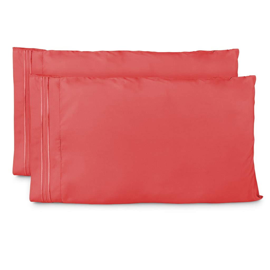 Cosy House Collection Pillowcases Standard Size - Brink Pink Luxury Pillow Case Set of 2 - Fits Queen Size Pillows - Premium Super Soft Hotel Quality - Cool & Wrinkle Free - Hypoallergenic
