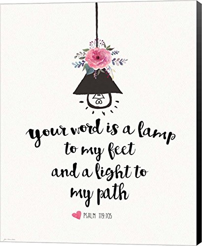 Light My Path by Jo Moulton Canvas Art Wall Picture, Museum Wrapped with Black Sides, 16 x 20 inches Museum Black Path Light