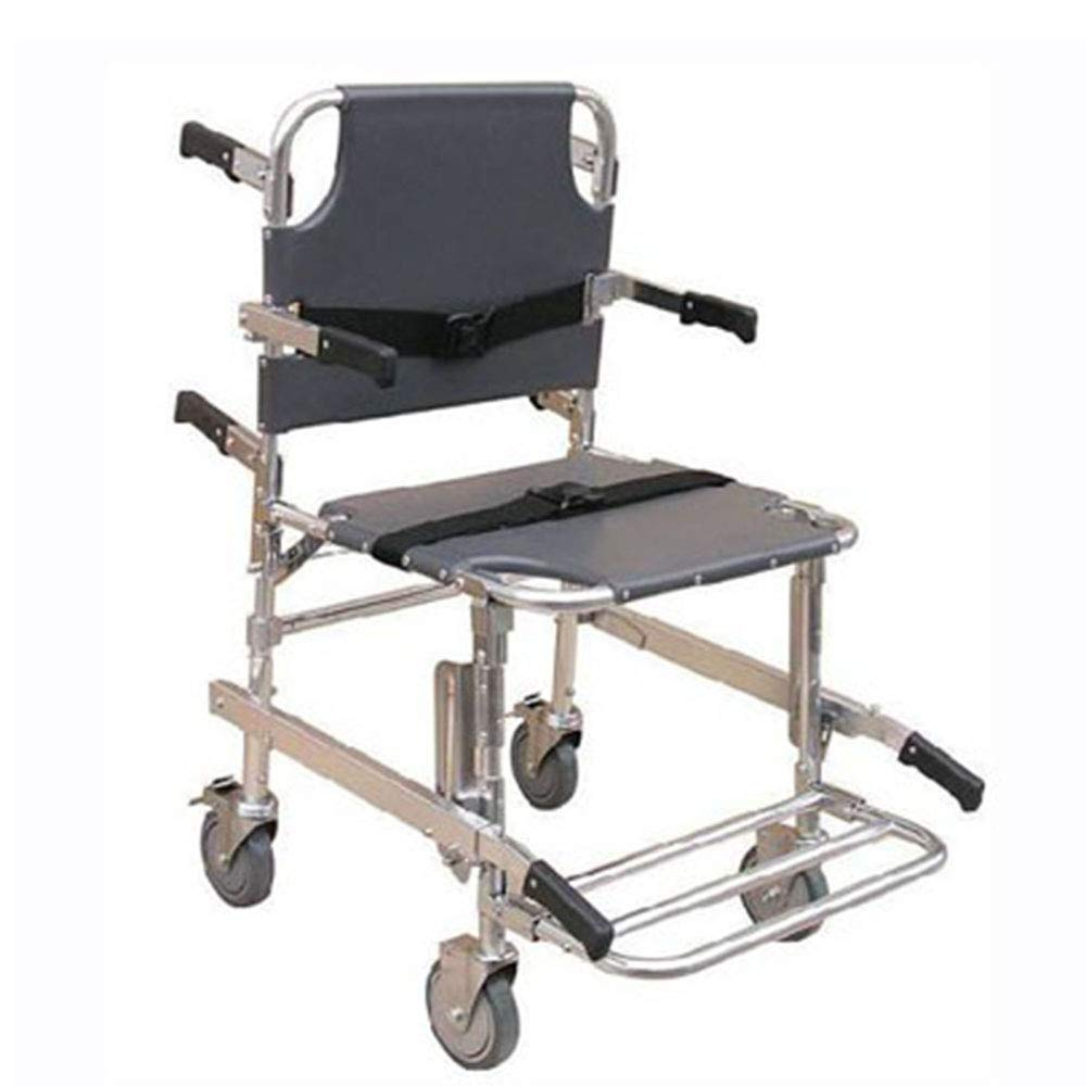 QETU Chair Lift for Stairs, Aluminum Rescue Escape Evacuation Fire Wheelchair for Ambulance Car, with Wheels with Handle, 159Kg/350.3Ibs Capacity by QETU